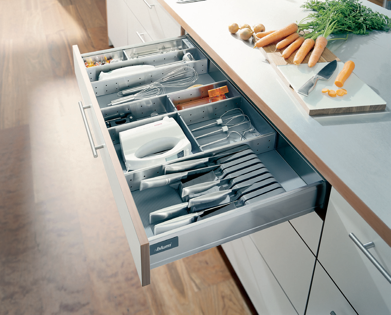 Blum ORGALINE dividers for kitchen utensils, knives & small electric ...