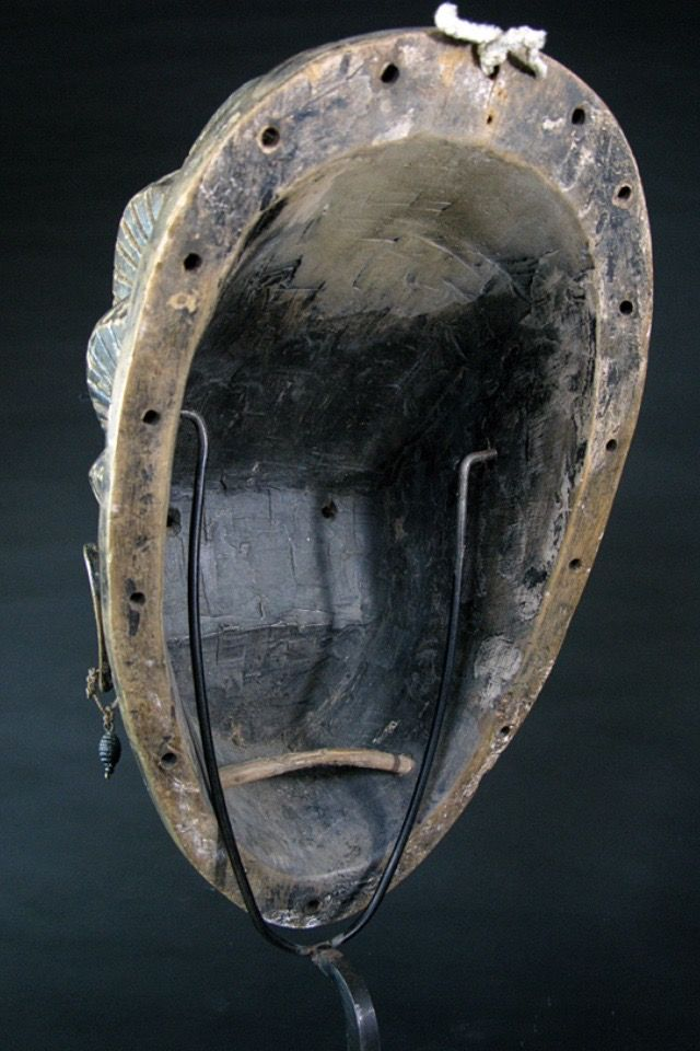 A gorgeous old female Baule mask from Cote D'Ivoire