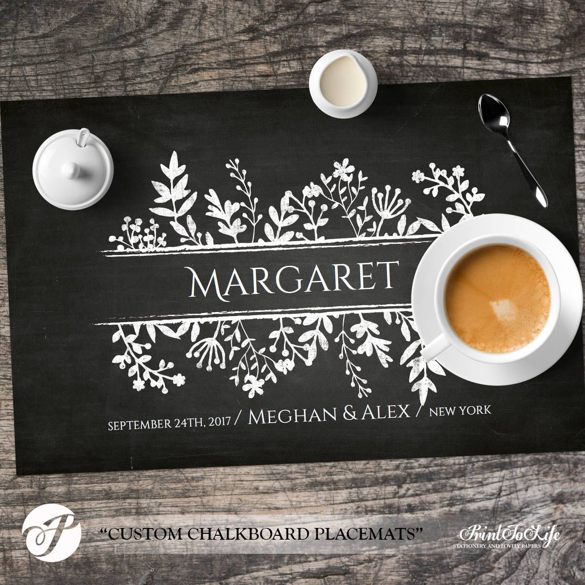 Paper Placemats Template Wedding Placemats Dinner Party Table