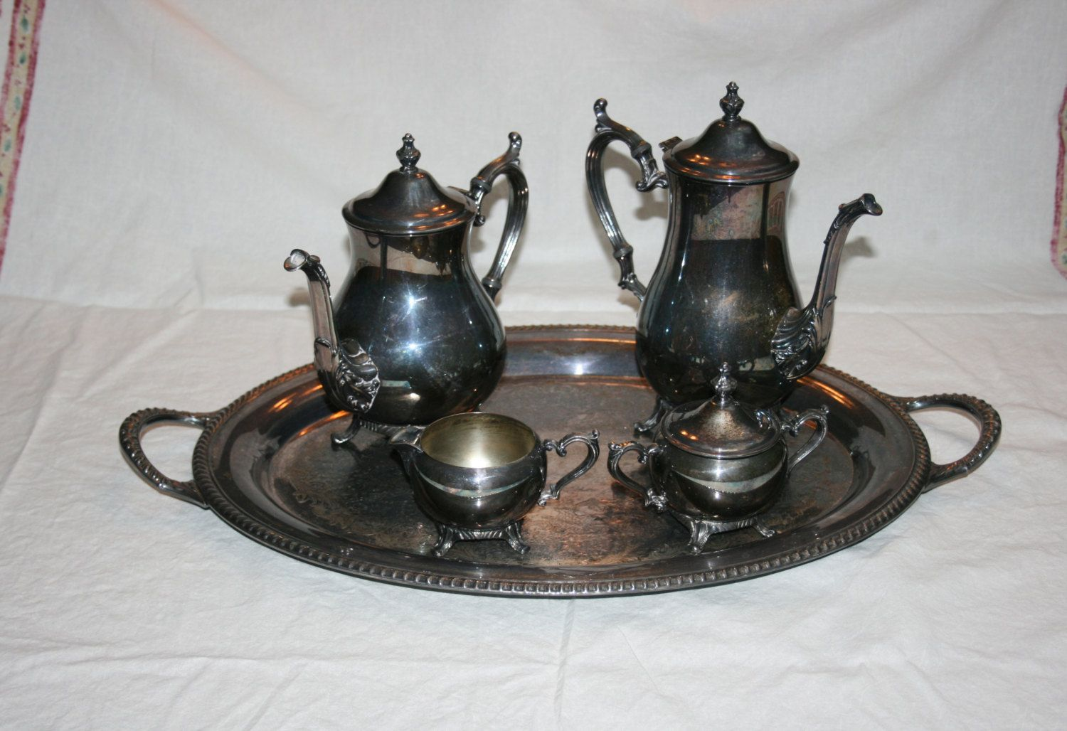 Silver Plated Tea Set Value & Vintage Oneida Silver Plate