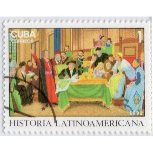 For Sale: 1992 Cuba Latin-American History (O28b) | Webstore