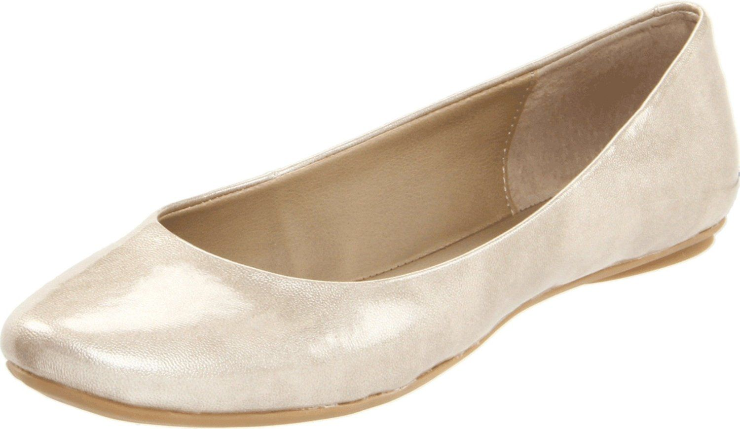 Amazon.com: Kenneth Cole REACTION Womens Slip On By Flat Gold Patent 8 M