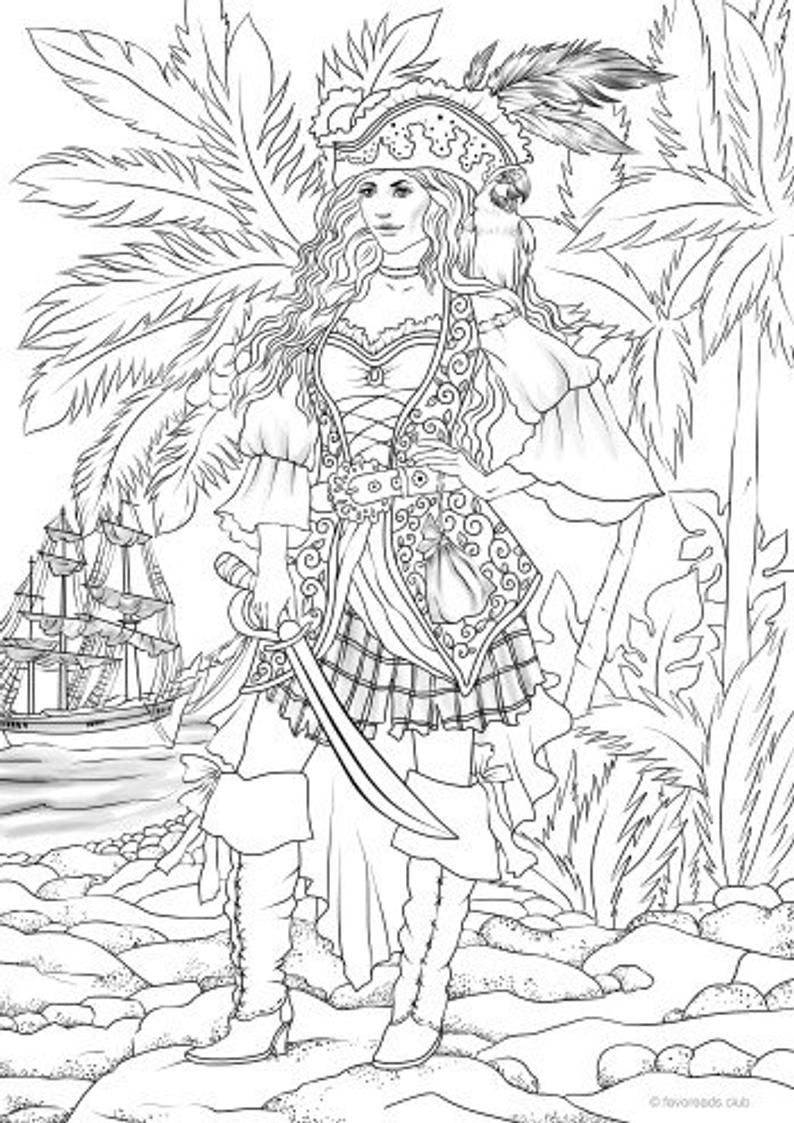 Coloring Book With Pirate Objects Coloring Books Coloring Pages Color