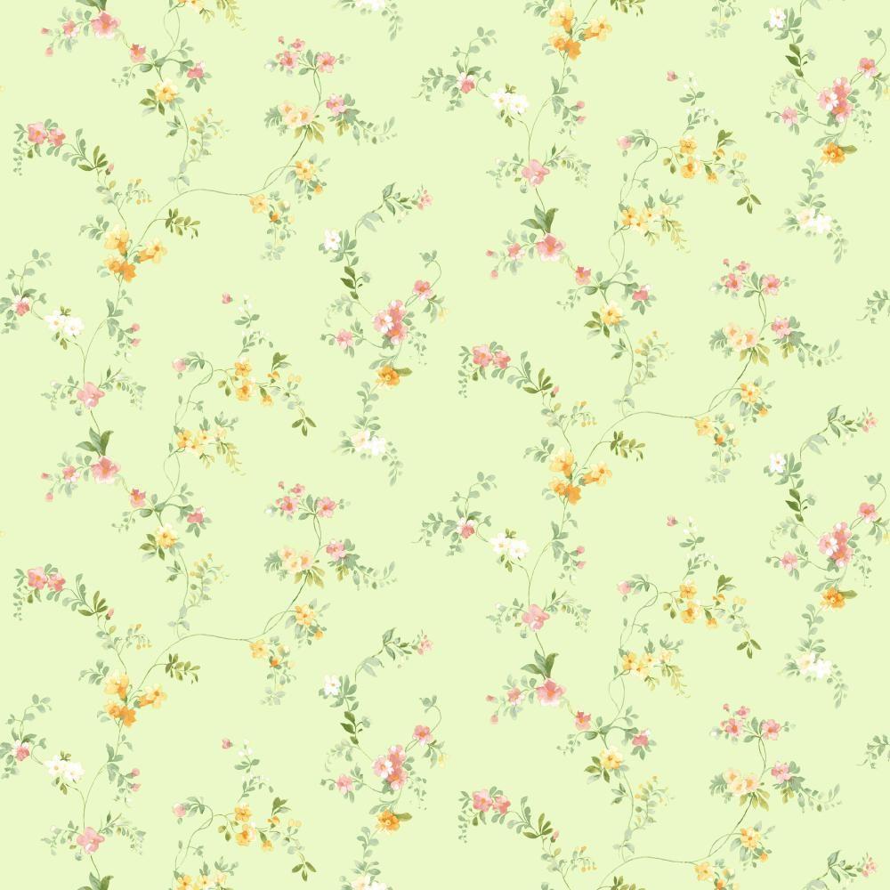Kitchen Wallpaper Texture kitchen & bath document vine pastel-green wallpaper sm8578 | green