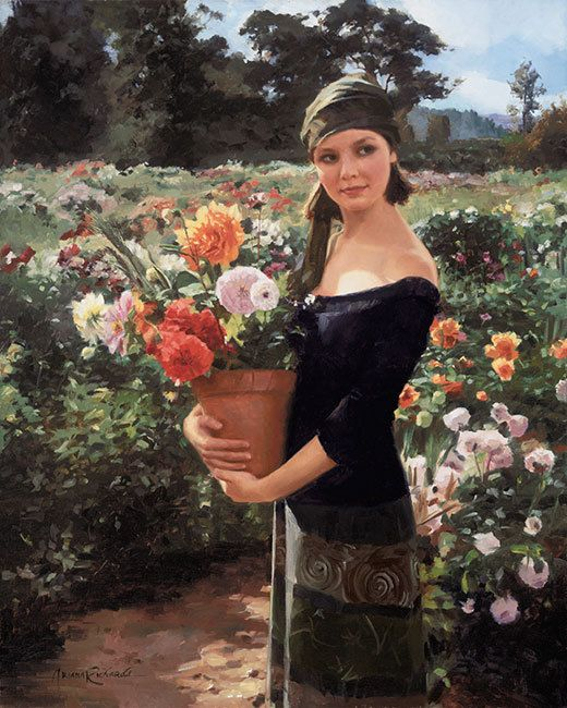 Lady Of The Dahlias Painted By Jurassic Park Star Ariana Richards