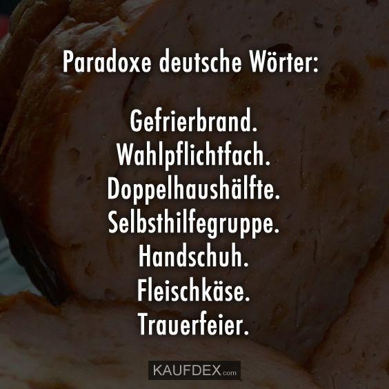 paradoxe deutsche wörter