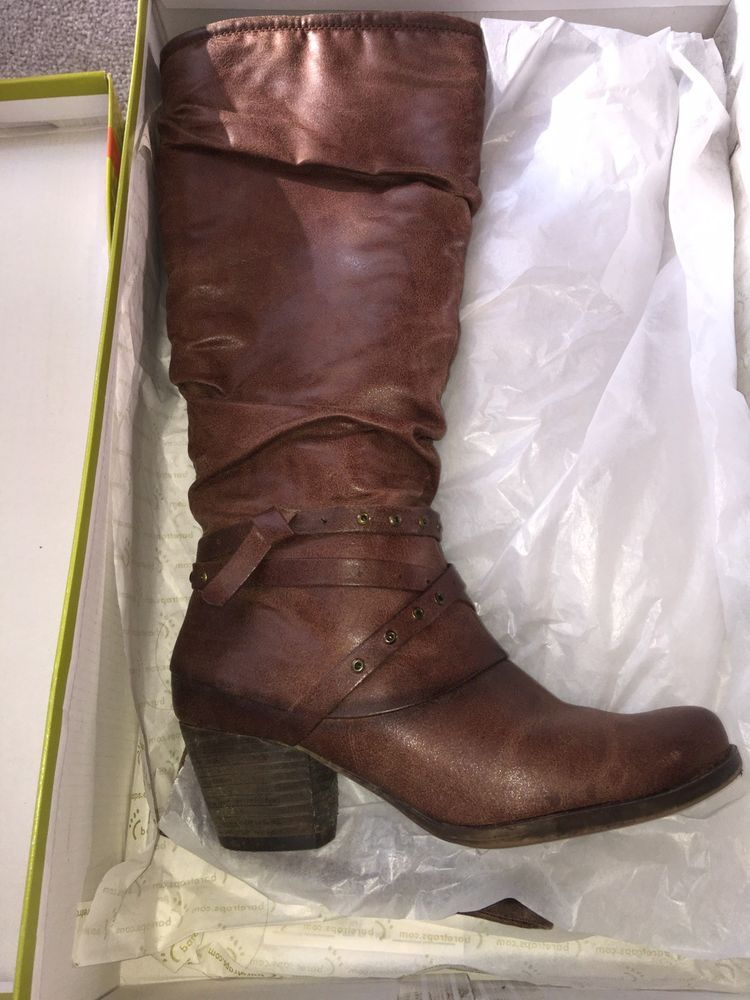 Womens Mid Calf Boots Size 6 5 Brown Leather Fashion Clothing Shoes Accessories Womensshoes Boots Ebay Link Womens Mid Calf Boots Boots Mid Calf Boots