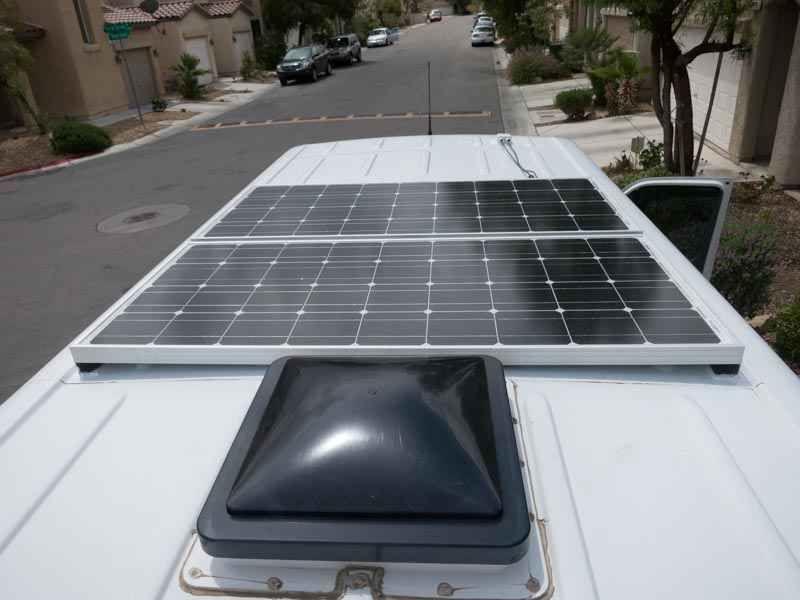 Installing Solar Panels CTEK Charge Controller And Xantrex LinkLite On A Sprinter Camper Van Conversion
