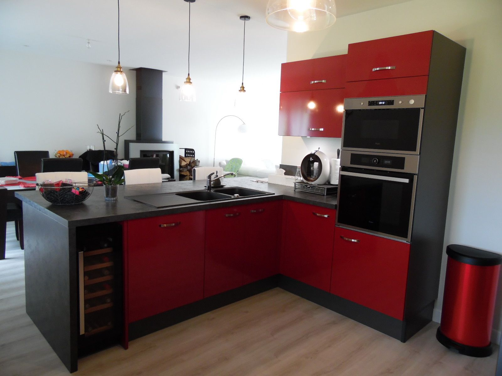 gris pour une cuisine moderne