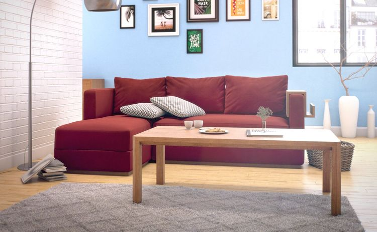 Red couch in the living room - Which wall color and Co fit Wall