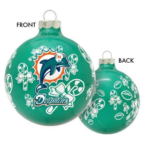 Miami Dolphins Christmas Ornaments $5.89 - Miami Dolphins Christmas Ornaments $5.89 Fin Fun Miami Dolphins