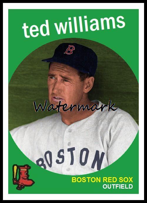 1959 Topps Ted Williams Baseball Cards Baseball