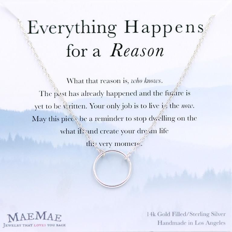 0215281b05ff1 Everything Happens For A Reason Necklace - Silver in 2019 | Staying ...