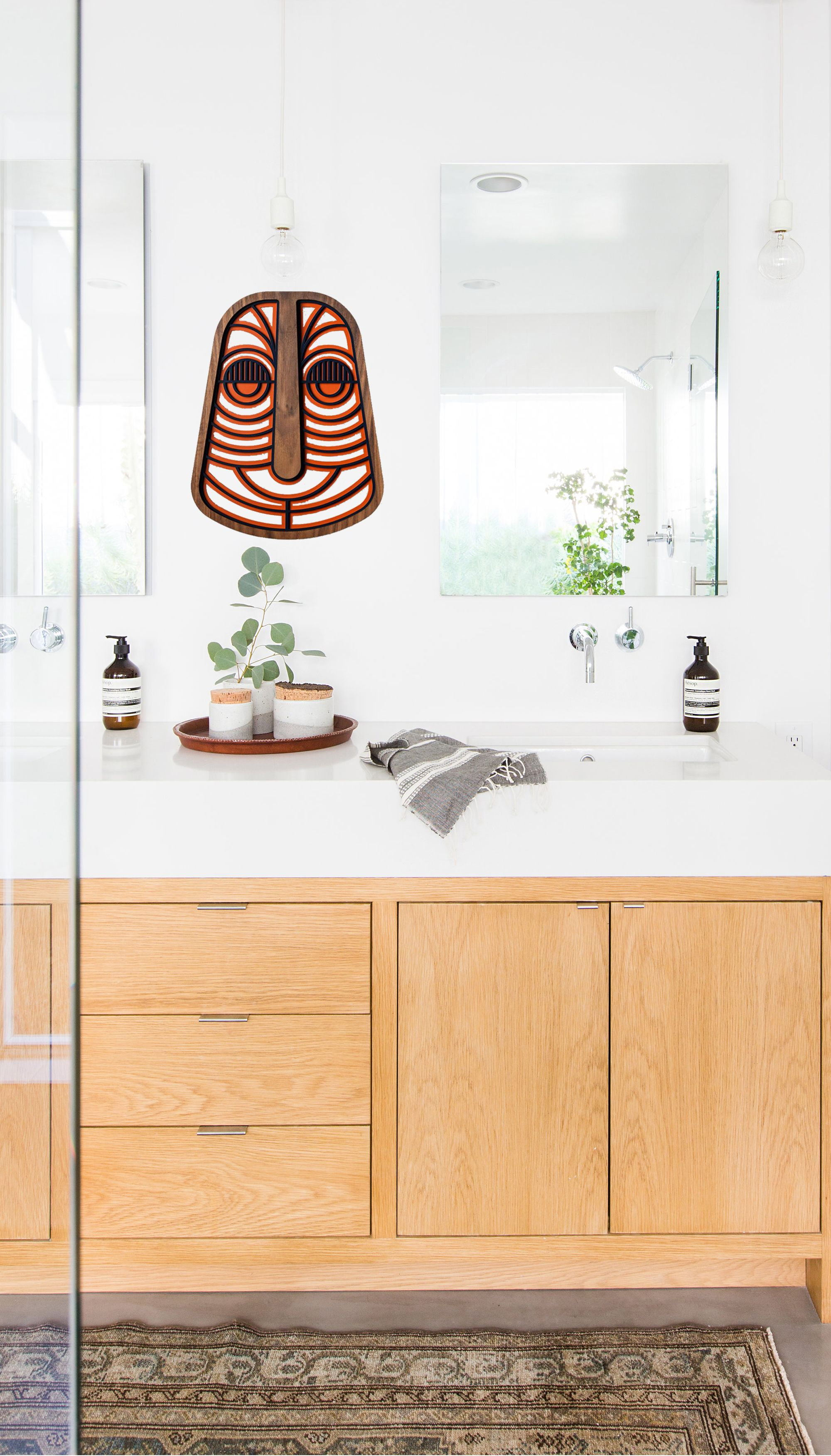 Bathroom Decorative Wall Mask With Wooden And Abstract Design Bathroom Homedecor Wallart Walldecor Etsy With Images Abstract Wall Decor Wall Mask Wooden Walls