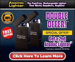 """The tactical lighter is totally rechargeable and functions to produce a light without severe or hazardous chemicals. Atomic Lighter is environmentally friendly & windproof and also is great for slim cigars, candles, cigarettes, and a lot more."""