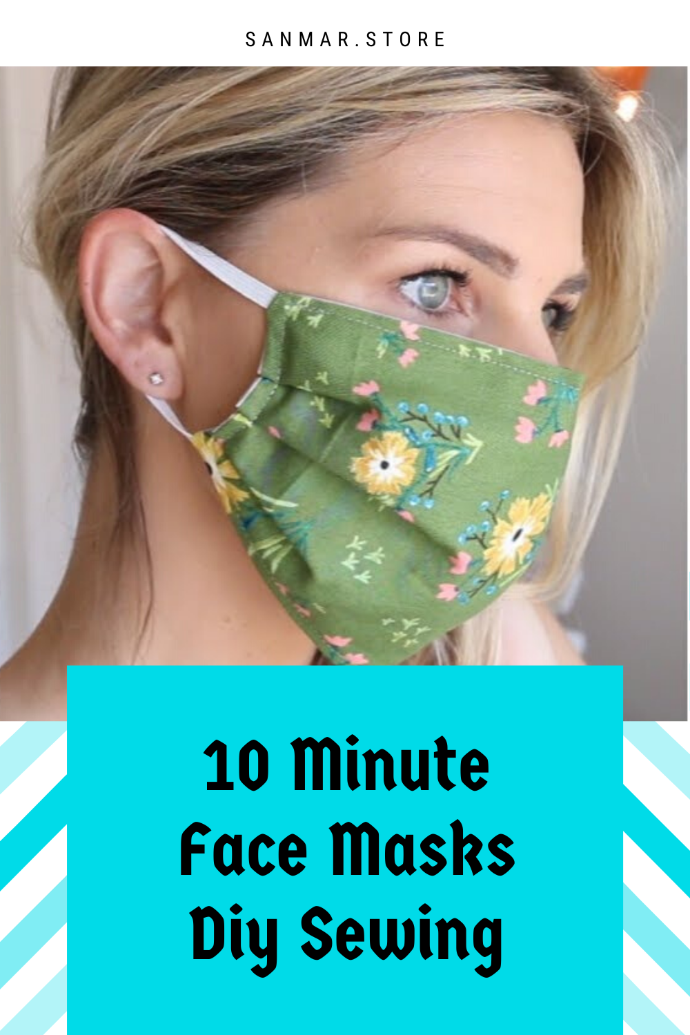 DIY Face Mask with Elastic in 10 minutes - Sewing Tutorial - Sanmar