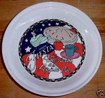 Homer Laughlin China/Fiesta® 10  Pie Plate - AS AMERICAN AS APPLE PIE & Homer Laughlin China/Fiesta® 10