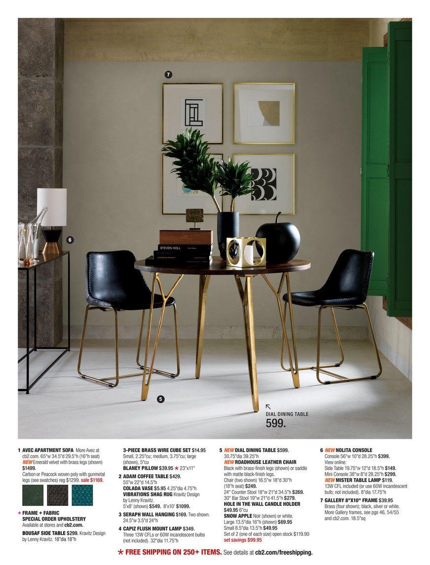 Cb2 February Catalog 2016 Dial Dining Table New Studio