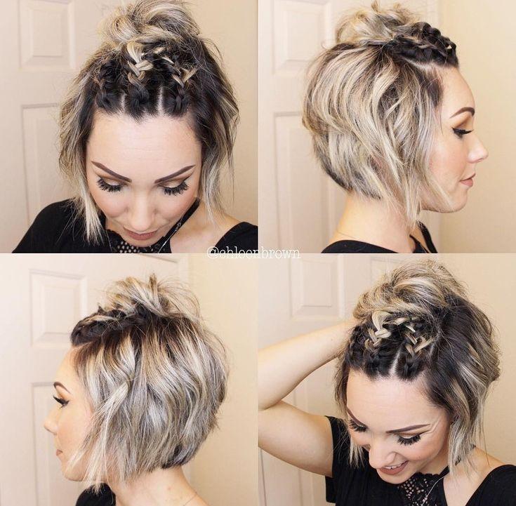 Kinnlang Frisur Ideen Haarschnitt Kurz Zopf Kurze Haare