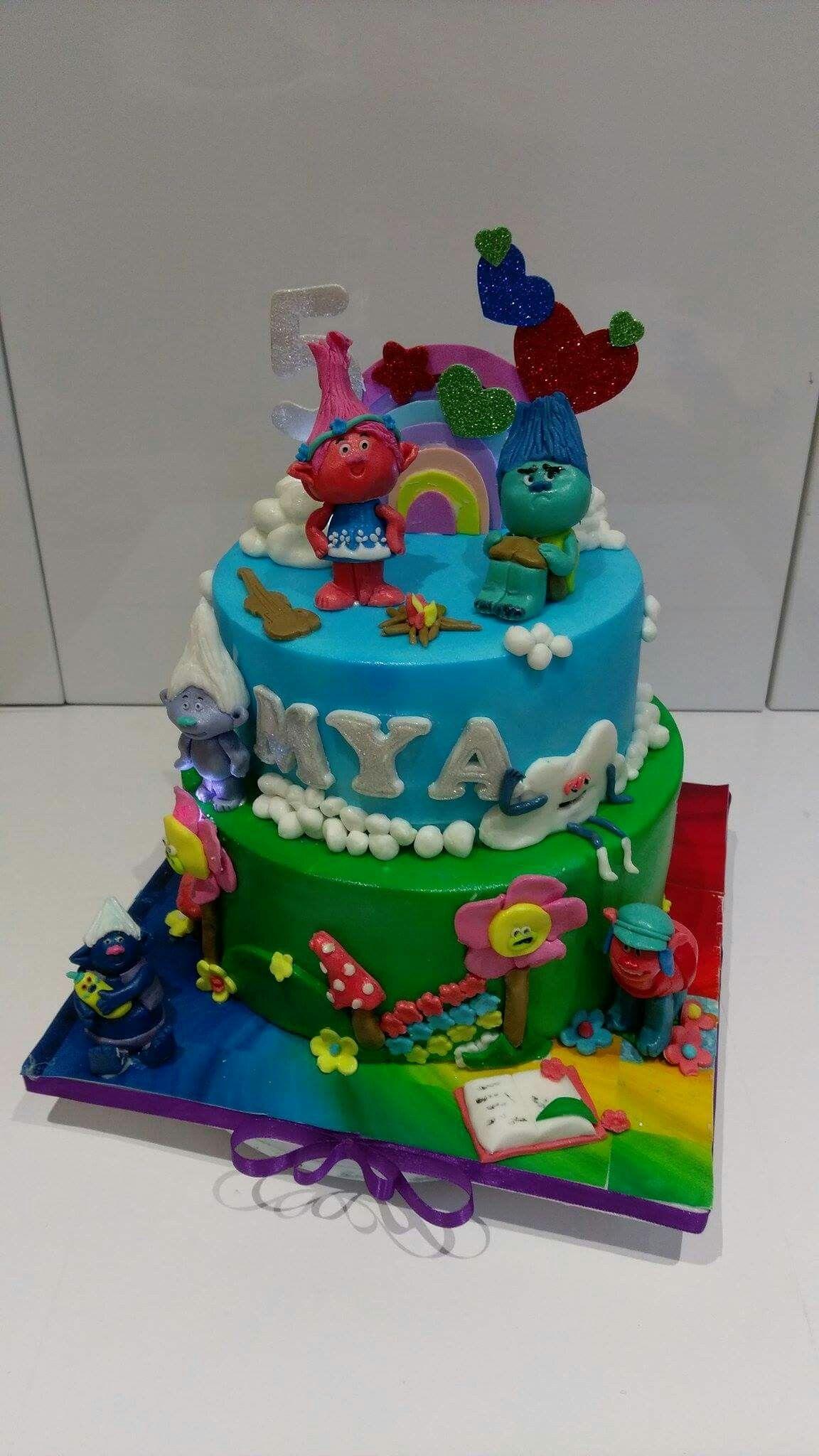 Cake Design Trolls : Trolls cake hailey 6th birthday Pinterest