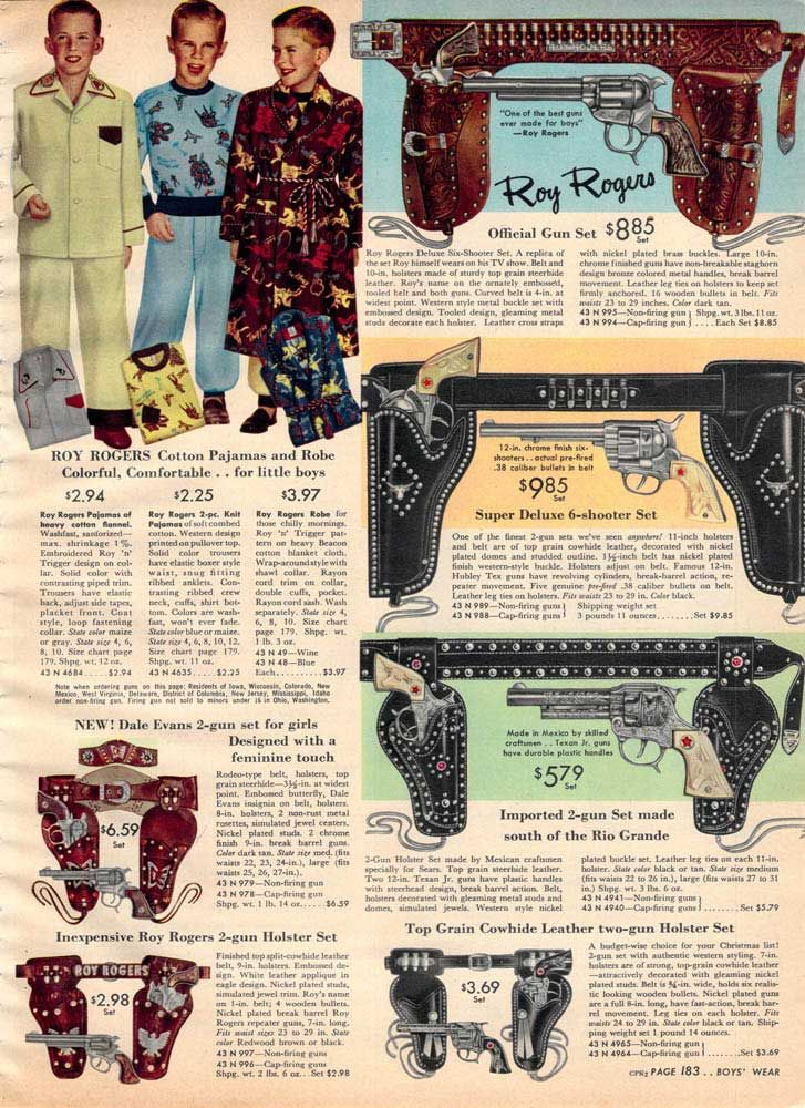 Vintage Roy Rogers Guns from a 1952 Sears catalog  b9d03a6f1