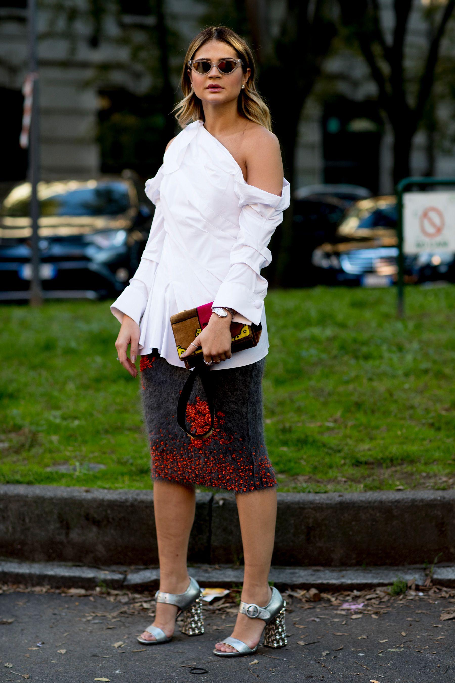 97db56eb14 Milan Fashion Week Street Style Spring 2018