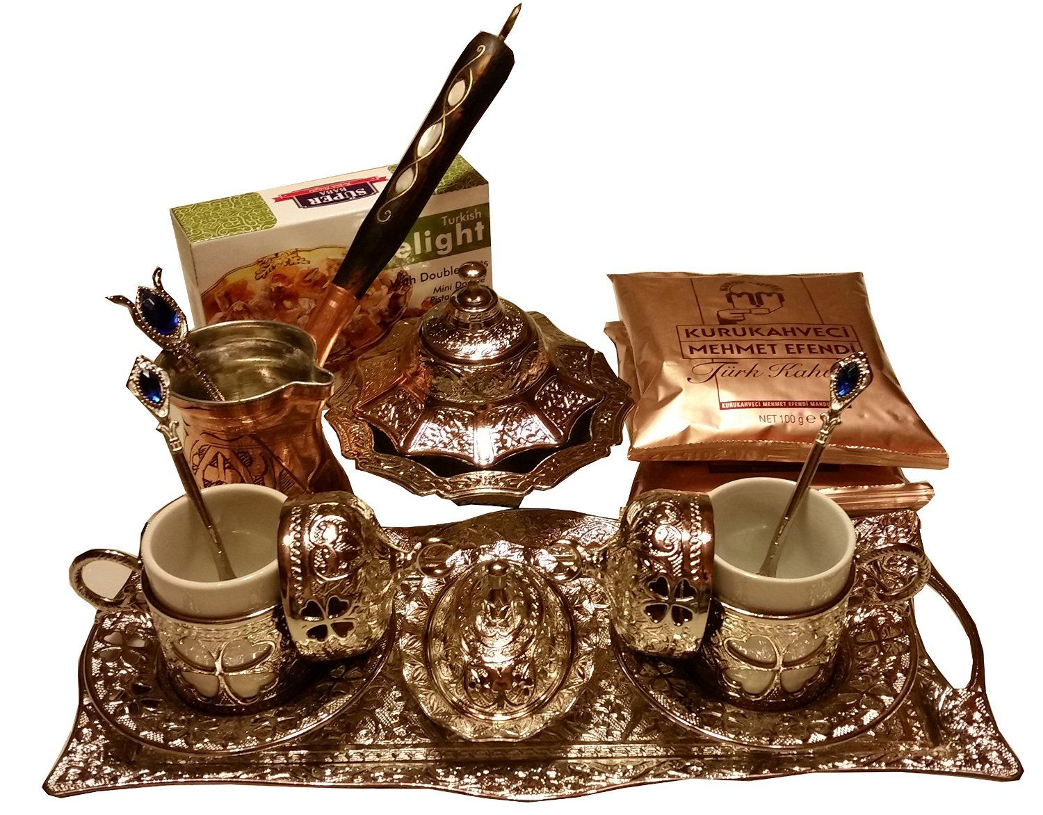 20 Pieces Complete Turkish Greek Arabic Coffee