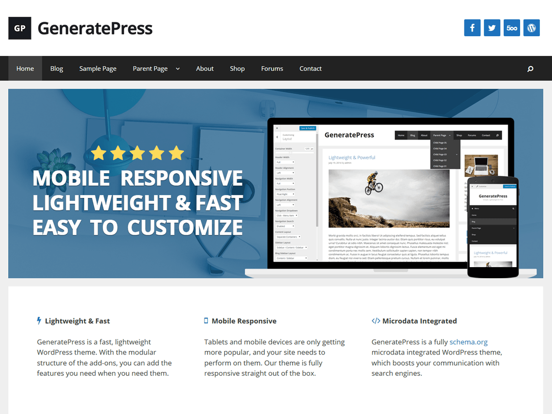 Generatepress Free Wordpress Themes Blogging Tips Wordpress