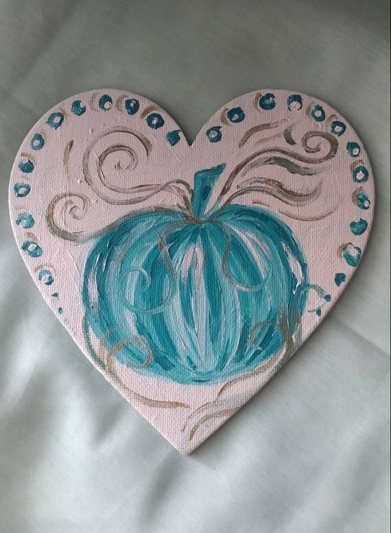 Heart magnet, Christian gifts for women, pumpkin magnet, thanksgiving gift for host, thanksgiving decor, hostess gift, gift for a teacher #thanksgivinggiftsforteachers Teal and white heart shaped magnetic canvas, pumpkin Painting. 7 inches #thanksgivinggiftsforteachers Heart magnet, Christian gifts for women, pumpkin magnet, thanksgiving gift for host, thanksgiving decor, hostess gift, gift for a teacher #thanksgivinggiftsforteachers Teal and white heart shaped magnetic canvas, pumpkin Painting.