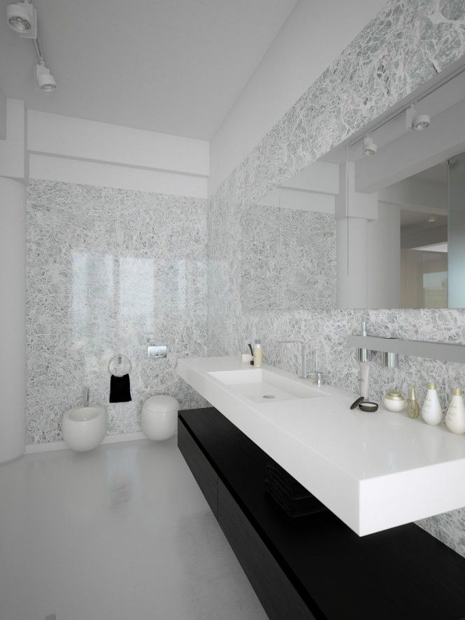 Modern Minimalist Black And White Lofts Minimalist Bathroom Design Modern Bathroom Design White Bathroom Decor