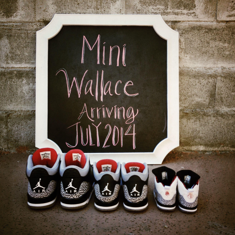 Air Jordan baby announcement
