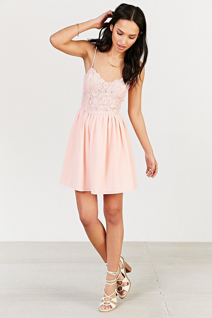 Kimchi Blue Spaghetti Strap Lace Dress Urban Outfitters Want In