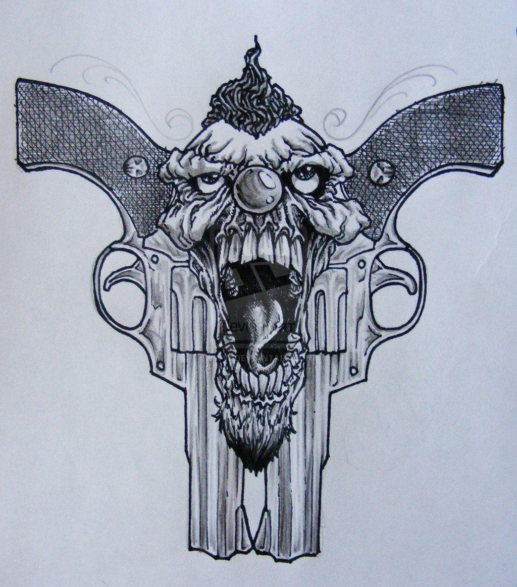 clown tattoo art clown tattoo arm clowns design art