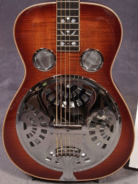 I always thought those two little speaker-like things near the fret board were stupid. But I gotta tell, ya, they add a lot to the sound!    Beard Gold Tone PBS-D Maple Deluxe Resonator