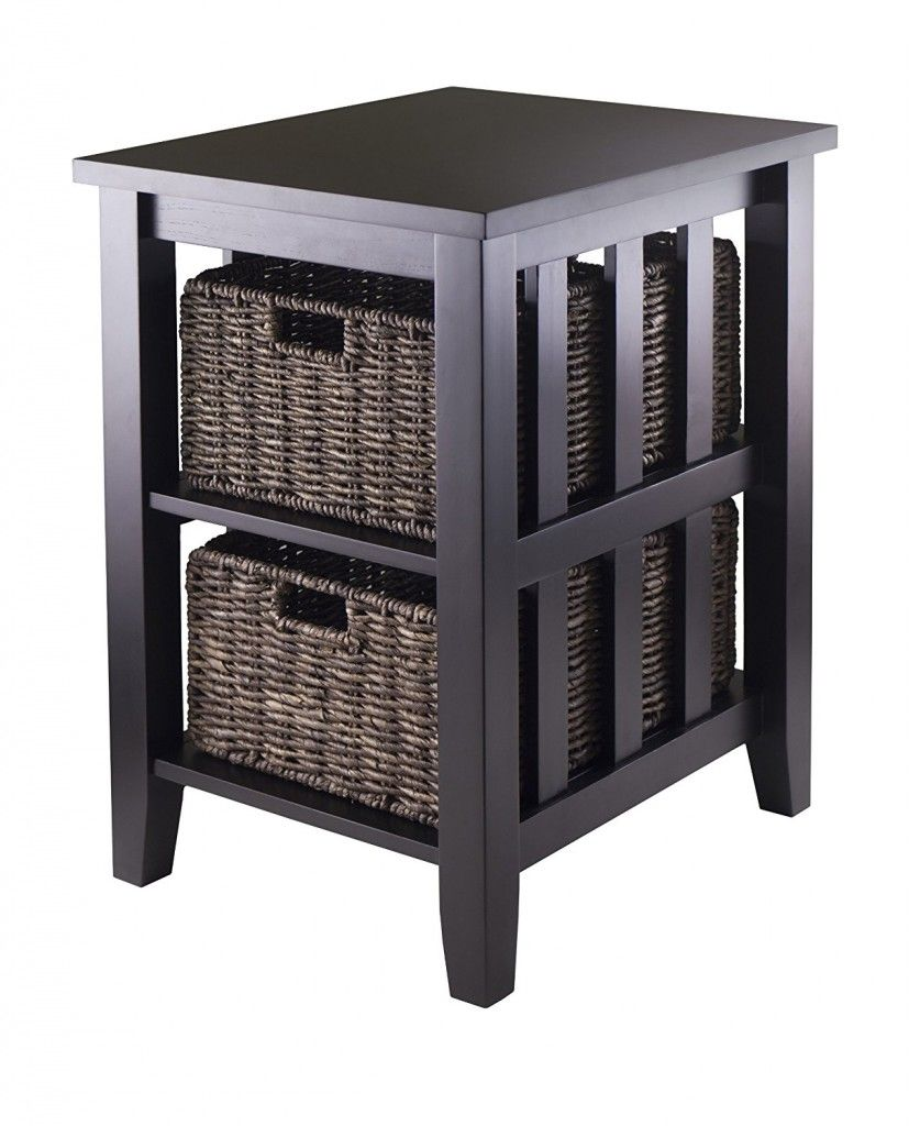 End Table With Baskets