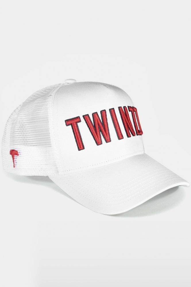 083eb4edbed 3D Mesh Trucker Cap White Red  Headwear  Twinzz
