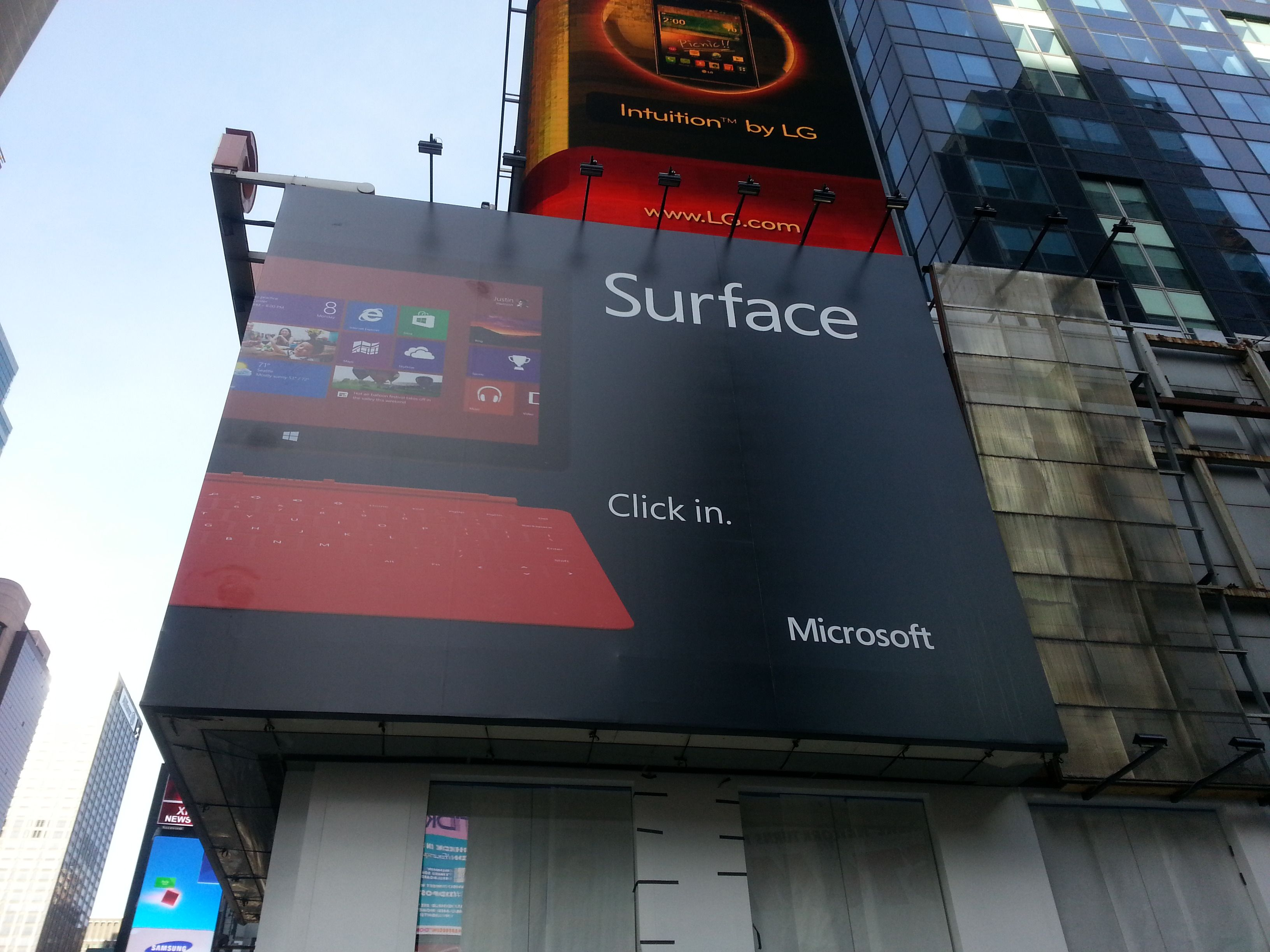 Microsoft Surface Ad Time Square, New York City 3