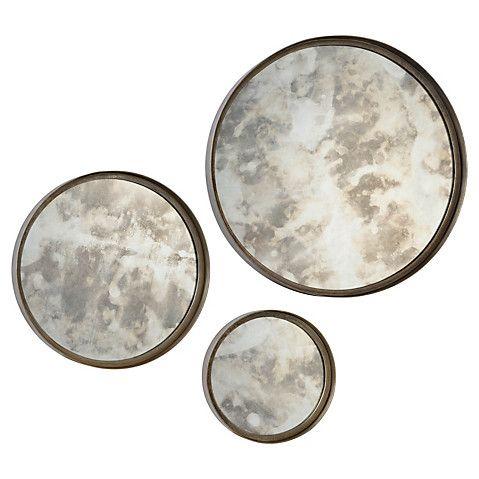 Mini Antique Mirror Set, Silver Now: $251.00 Was: $279.00