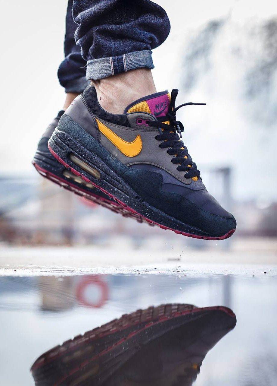 on sale 64018 89578 Nike Air Max 1  Huarache Pack  (by Julien Papoo... – Sweetsoles – Sneakers,  kicks and trainers. On feet.