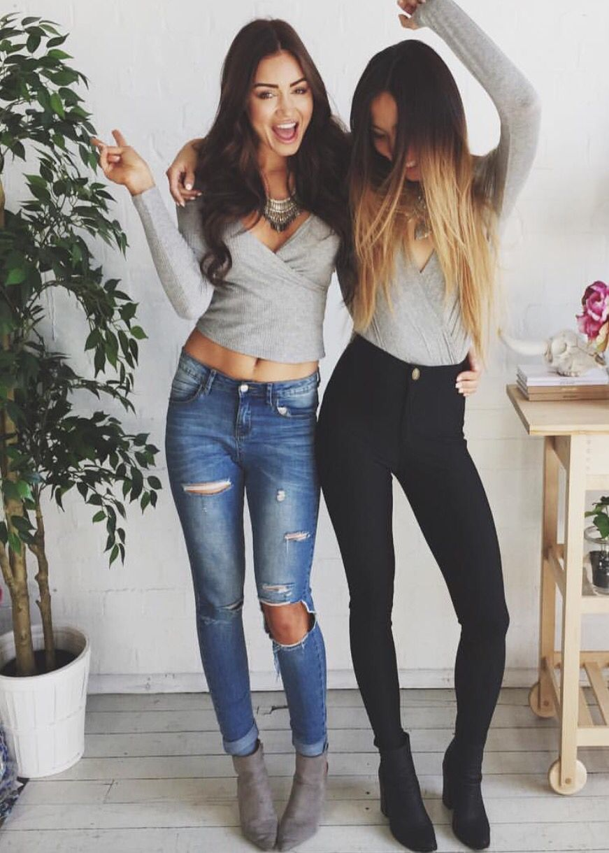 original cute black pants outfits 8