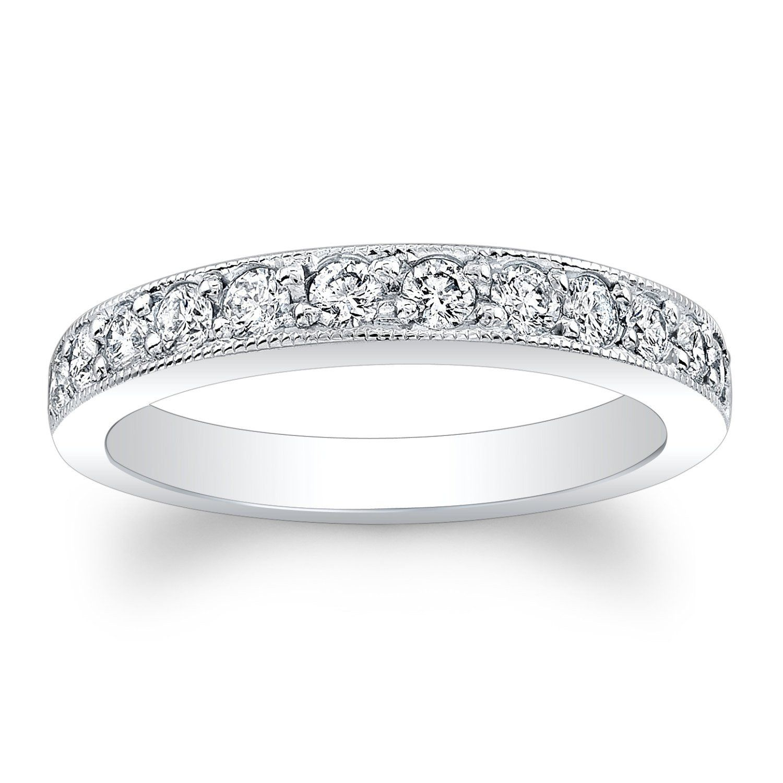 Ladies Platinum diamond wedding band 0.45 ctw GVS2