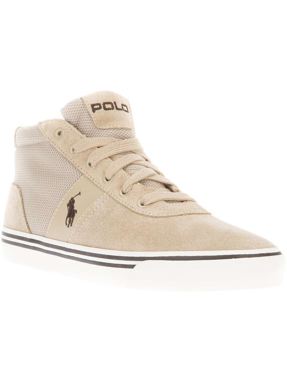 Polo Ralph Lauren hitop logo trainer on Wantering