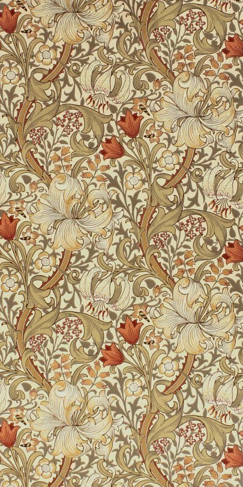 venusmilk Designed by John Henry Dearle, Golden Lily 1899