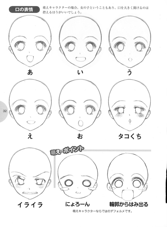 Drawtutorial Como Desenhar Manga Rosto Manga Desenho De Rosto