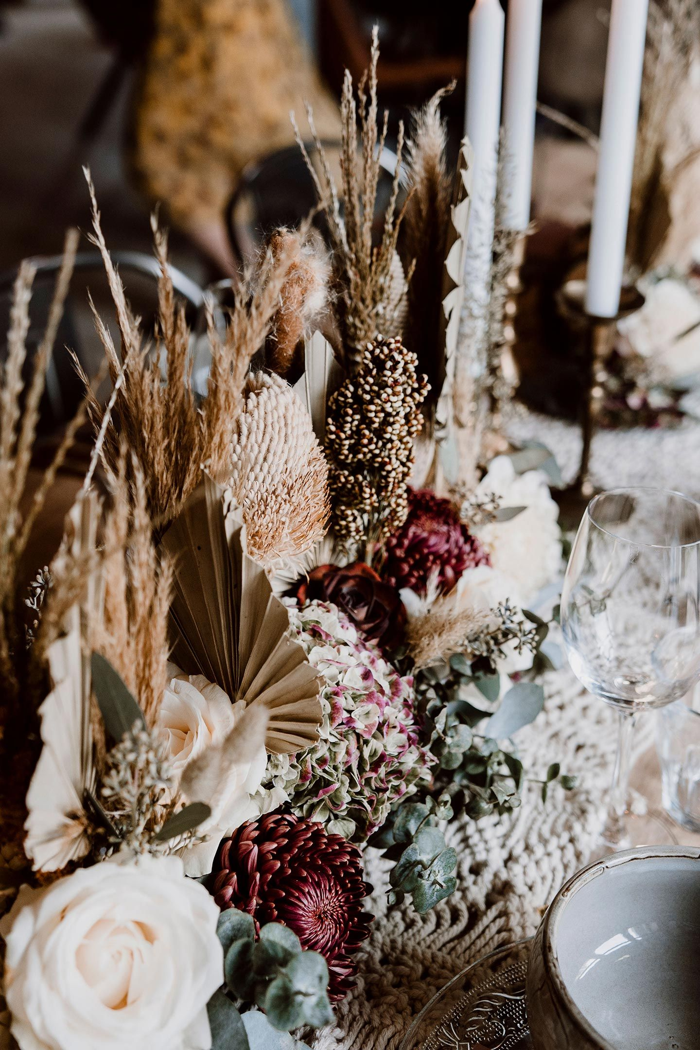 Maike Betz Hochzeitswahn Boho Tischdekoration
