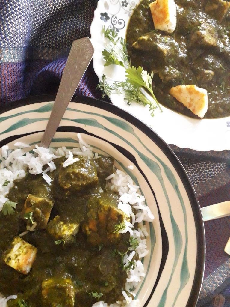 Restaurant Style Palak Paneer Recipe - My Dainty Kitchen ...