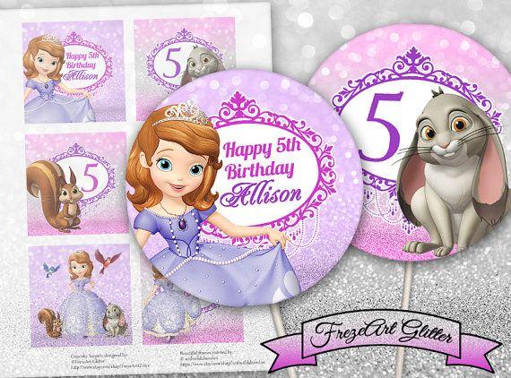 Princess Sofia Cupcake Toppers Cake Toppers Sofia The