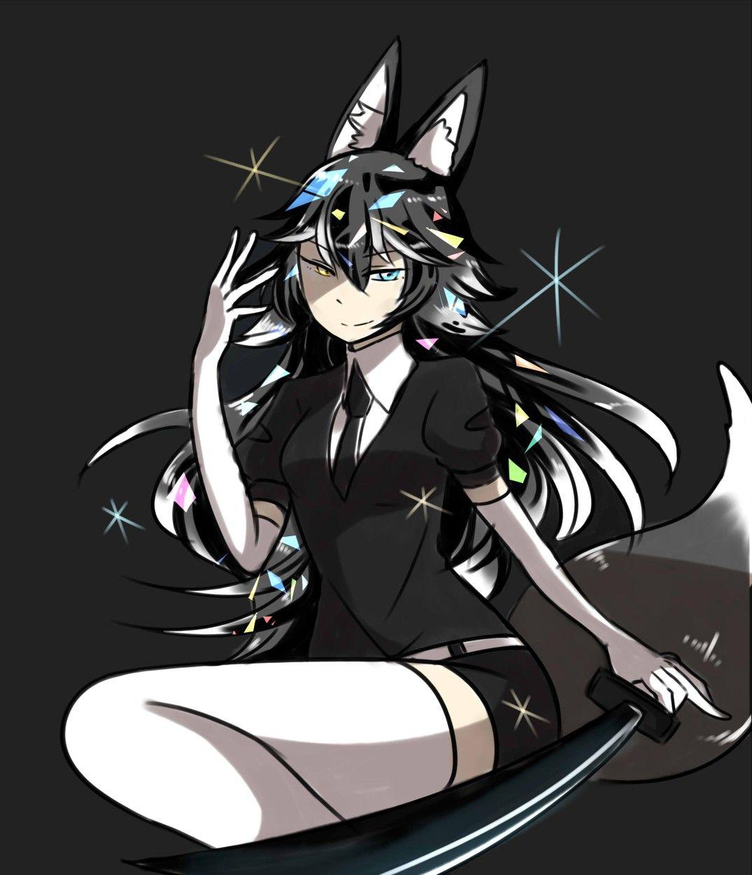 Kemono friends wolf Neko girl, Werewolf girl