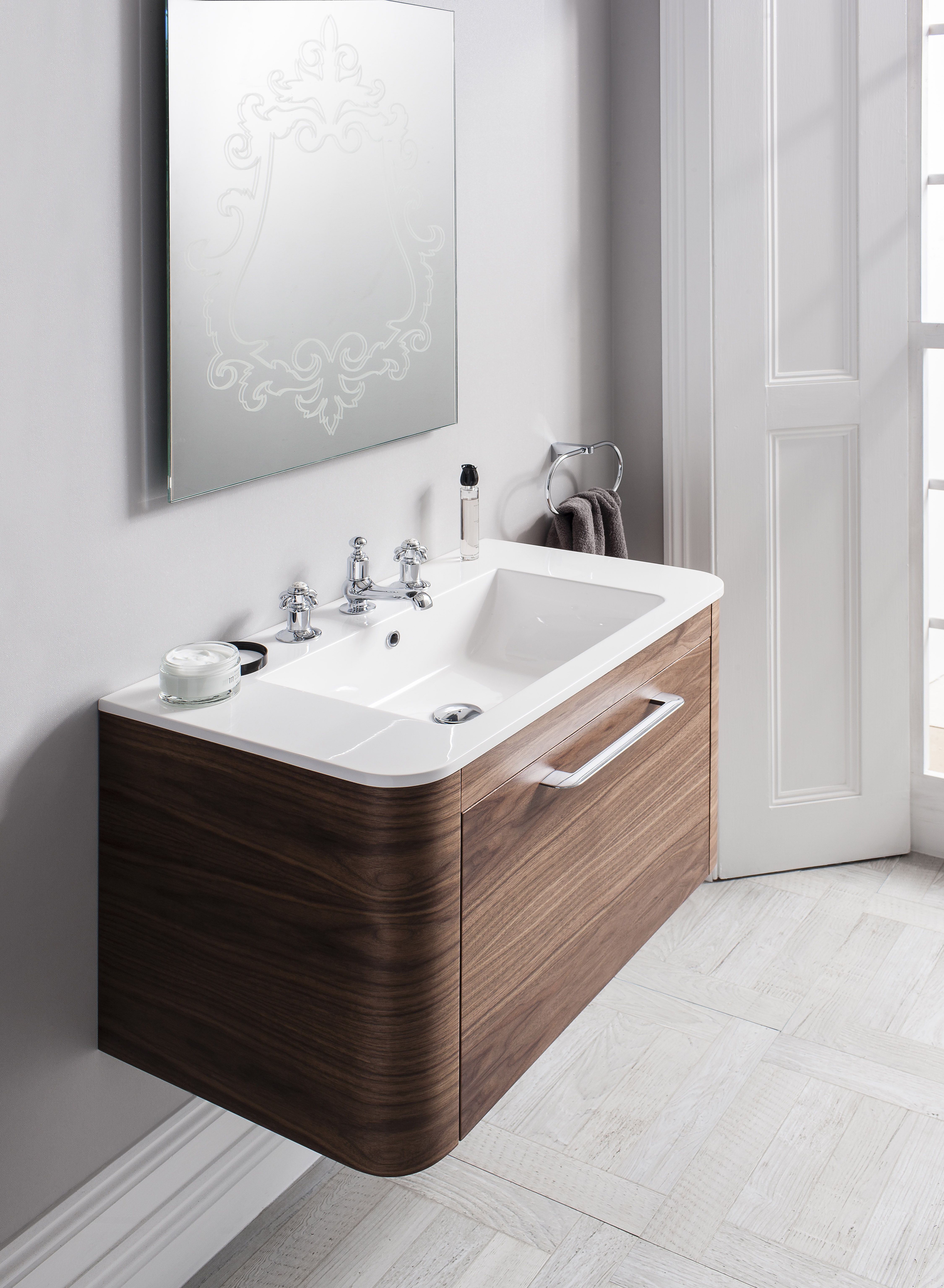 Celeste American Walnut Bathroom Furniture Unit & Basin from ...