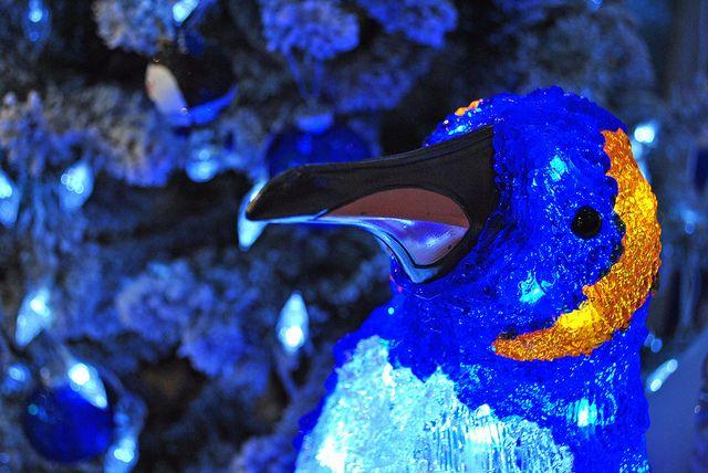 16th November 2012 Blue and orange Christmas penguin ...